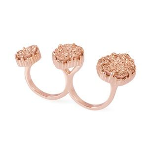 Kendra Scott l Naomi Rose Gold Double Ring